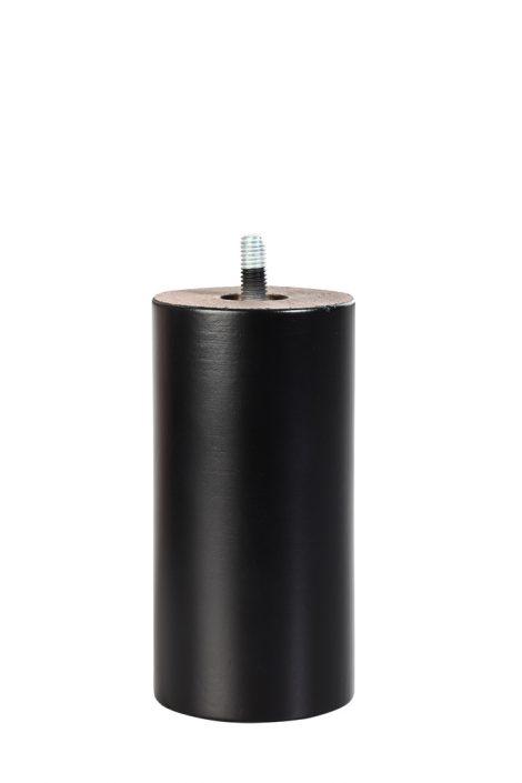 Cylinder-Schwarz Boxspringbett Fuß